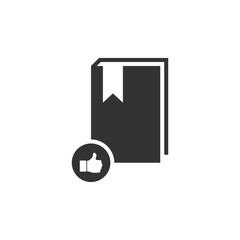 VIP favorite book icon flat