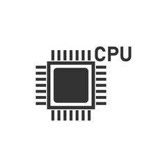 CPU icon flat