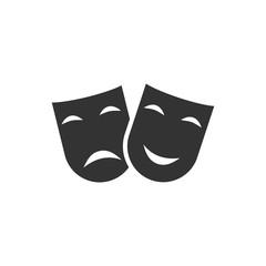 Festive masks icon flat