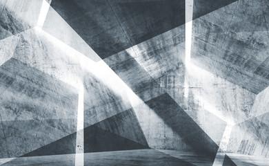 Blue toned digital background 3d concrete