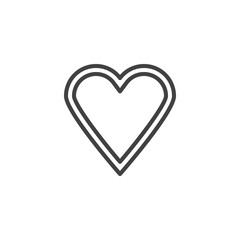 Heart line icon. linear style sign for mobile concept and web design. Love heart outline vector icon. Valentines day symbol, logo illustration. Pixel perfect vector graphics