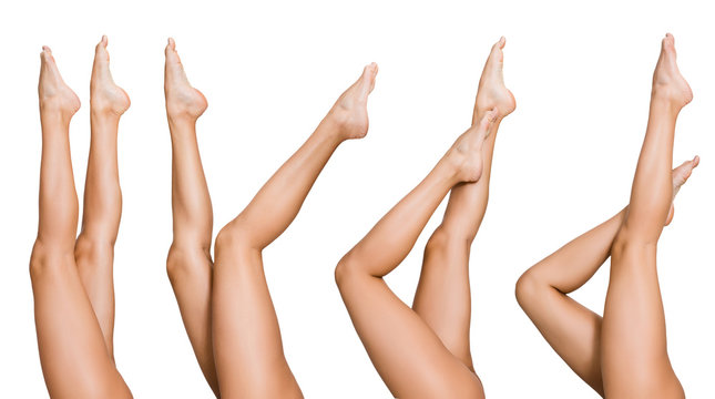 Naked woman posing with her beautiful legs