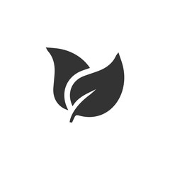 Leaves icon flat