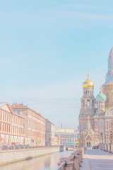 Street leading to Savior on the Spilled Blood Church