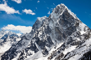 Summit Cholatse and Tabuche Peak. Himalayas. Nepal