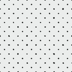 Dachówka wektor wzór w czarne kropki na szarym tle do dekoracji bezszwowe tapeta - 242332244