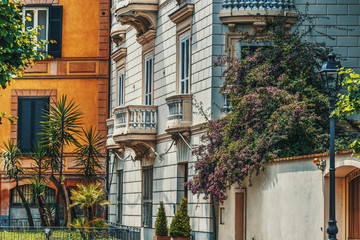 Luxury buildings in Sorrento