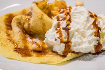 Czech pancakes with cream