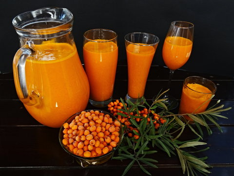 Fresh squeezed seaberry juice