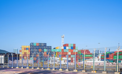 Containers in Yantian Port, Shenzhen, China