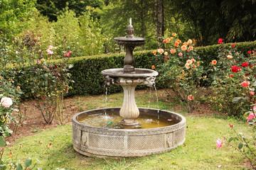 English garden water fountain.