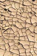 Dry cracked ground, California