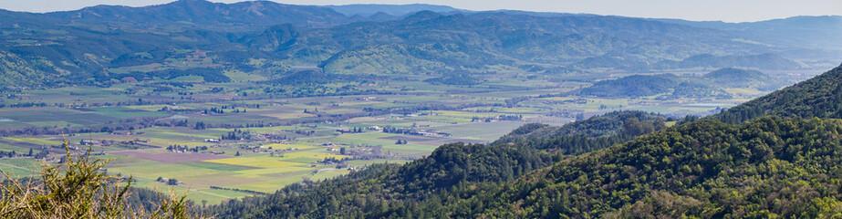 Panorama of Napa Valley from Sugarloaf Ridge State Park, California Fototapete