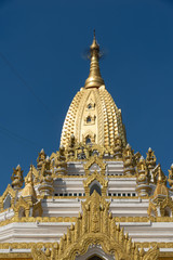 """The Swe Taw Myat paya or """"Buddha tooth relic pagoda"""" is one of Yangon's recent places of worship.  located on a small hill named Dhammapala in Mayangone township, just South of Yangon airport"""