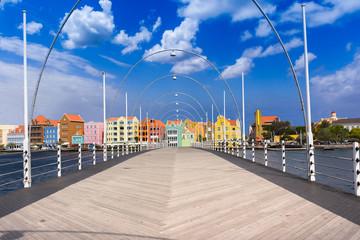 Floating pantoon bridge in Willemstad, Curacao