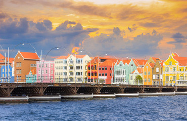 Wall Mural -  Curacao island in evening time, West Indies, Dutch Caribbean
