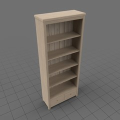Light oak bookshelf