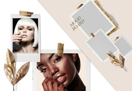 Gold theme mood board