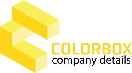 Cube 3d looking colorful logo