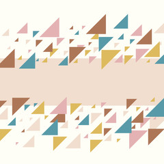 Abstract geometric background - multicolor pastel triangles mosaic pattern