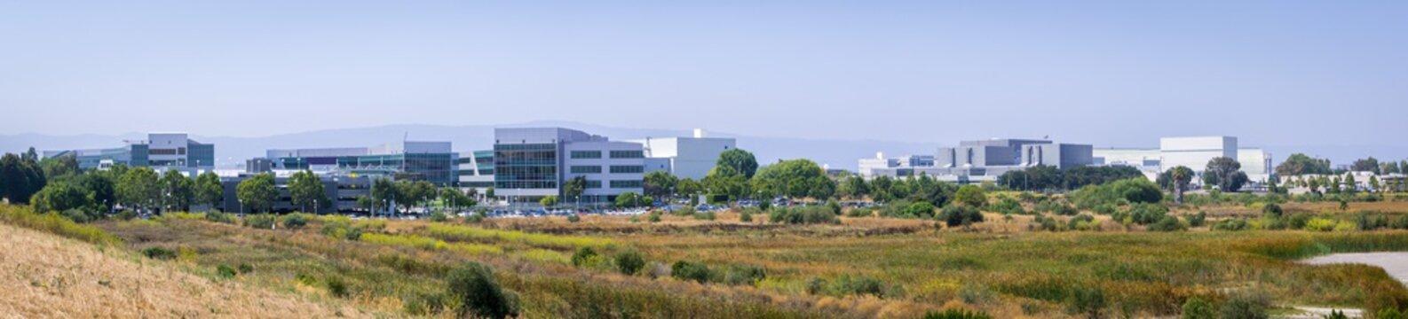 Office buildings on the shoreline of the San Francisco bay area, Sunnyvale, California