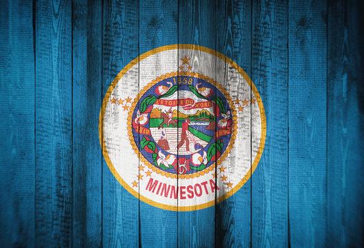 Flag of Minnesota, USA, background, texture, blurred image.