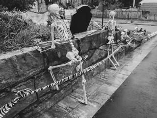 Creepy outdoor Halloween decorations