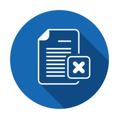 Cancel document file page restricted x icon. Vector icon