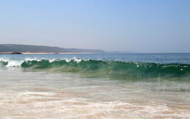 Beautiful view of Nazare and Atlantic ocean
