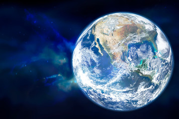 Planet Earth in outer space. Elements of this image furnished by NASA