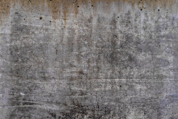 Aged concrete with orange stains patterns and cracks - high quality texture / background