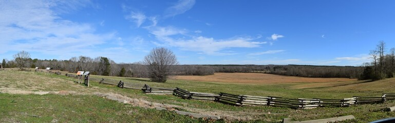 Metamora Hill Union forces location during the civil War battle of Davis Bridge in Tennessee
