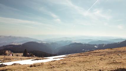 The beautiful Carpathian Mountains in Romania - Vladeasa