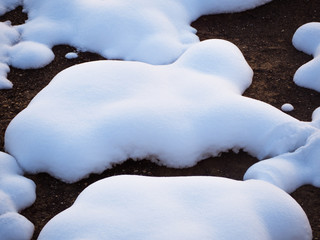 Big soft round snow patches