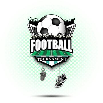 Soccer logo design template