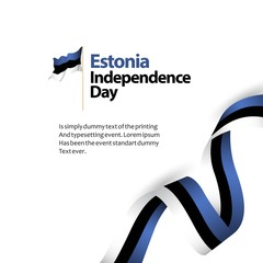 Estonia Independence Day Vector Template Design Illustration