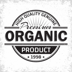 Organic product vintage label
