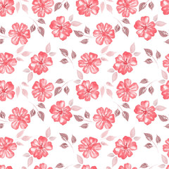 Seamless Floral Pattern watercolor
