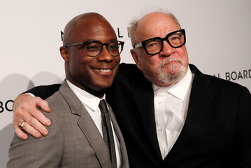 Director and screenwriter Peter Schrader poses with director and screenwriter Barry Jenkins as they arrive for the National Board of Review Awards gala in New York City