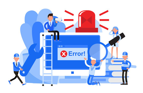Business people character vector design. Error and unavailable page concept.