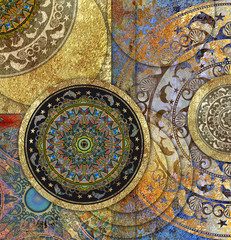 vintage old floral patterned background
