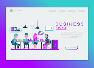 business people character vector design. For landing page and background template.