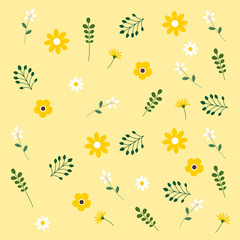 Flower pattern vector illustration.