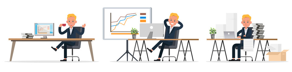 business people character vector design. Presentation in various action and working. no18