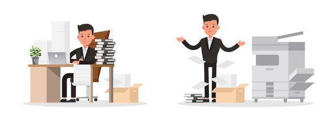 business people character vector design. Presentation in various action and working. no43