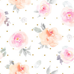 Seamless Pastel Floral Pattern Wallpaper, Girly Flower Background