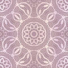 Design For Square Fashion Print. For Textile, fabric printa. Seamless Floral Pattern. Vector Illustration.