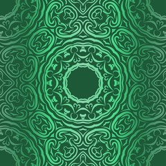 Floral Pattern, Green color Design. For Design background, paper, fashion print. Vector Illustration