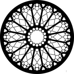 Soissons, West, France, rose window