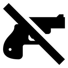 Handgun Firearm Ban Vector Icon